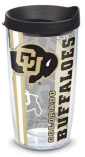 Colorado buffaloes 16oz pride w lid
