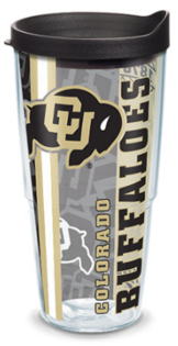 Colorado buffaloes 24oz pride w lid