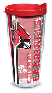 24oz ball state university college pride w lid