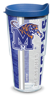 24oz university of memphis college pride w lid