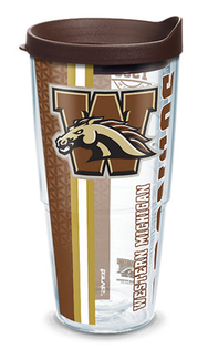 24oz western michigan university college pride w lid