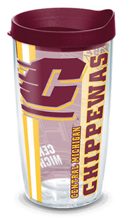 16oz central michigan university college pride w lid