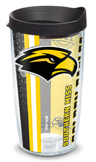 16oz southern mississippi university college pride w lid