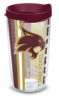 16oz texas state university college pride w lid